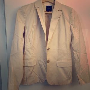 J Cree Blazer in Light Beige, Size 2